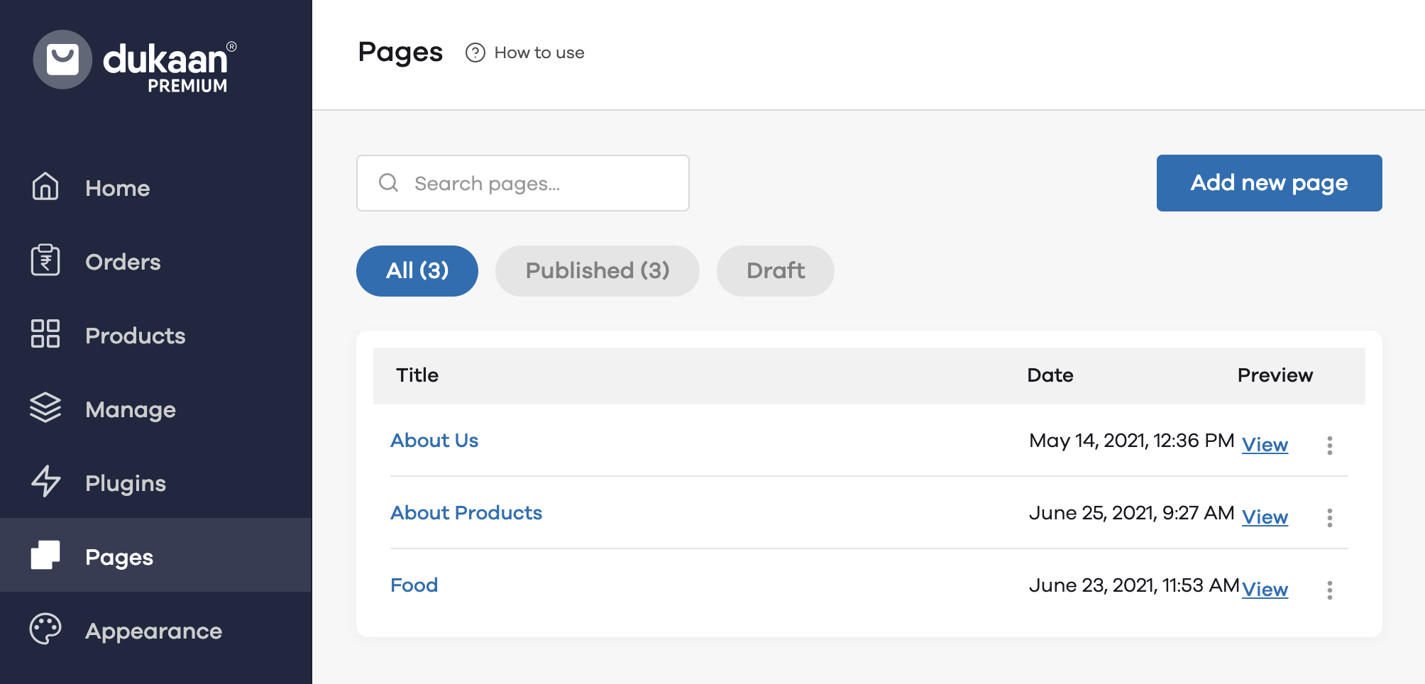 How to create pages on Dukaan