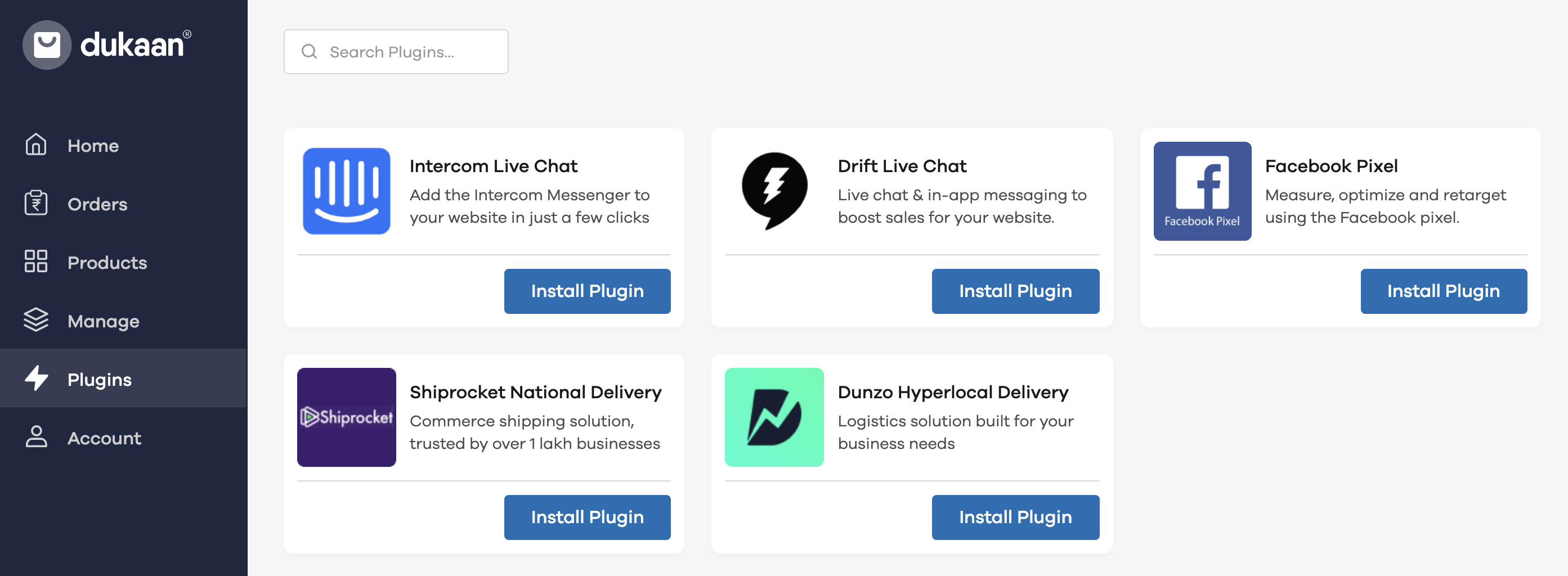 Dukaan Delivery Plugins