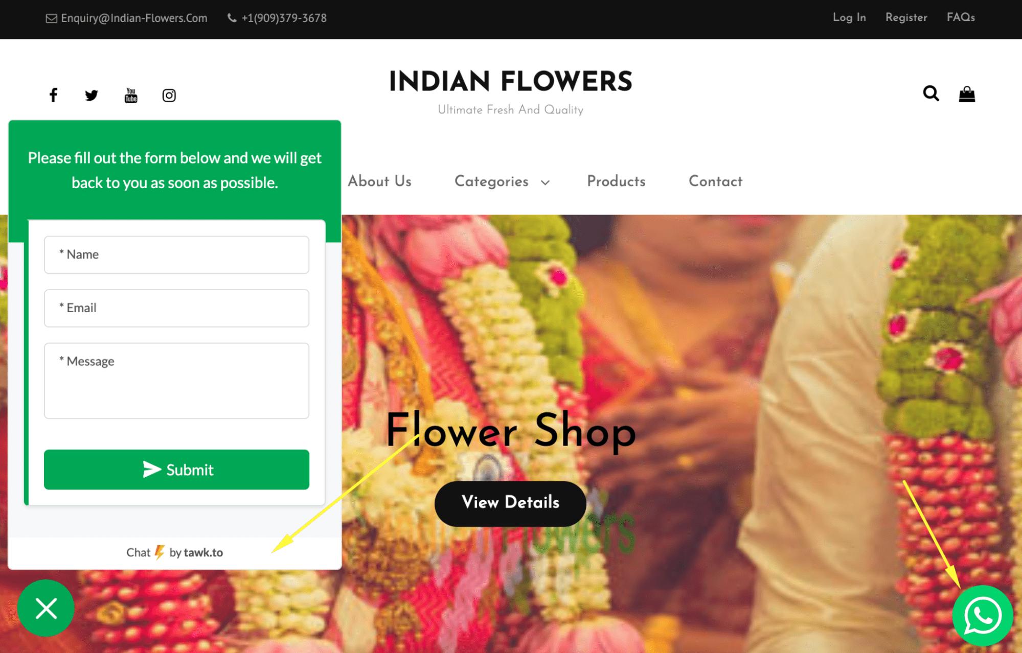 Indian Flowers website