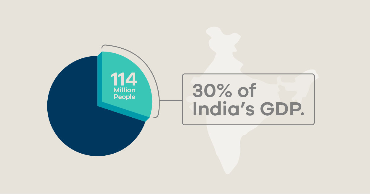 30% of India's GDP
