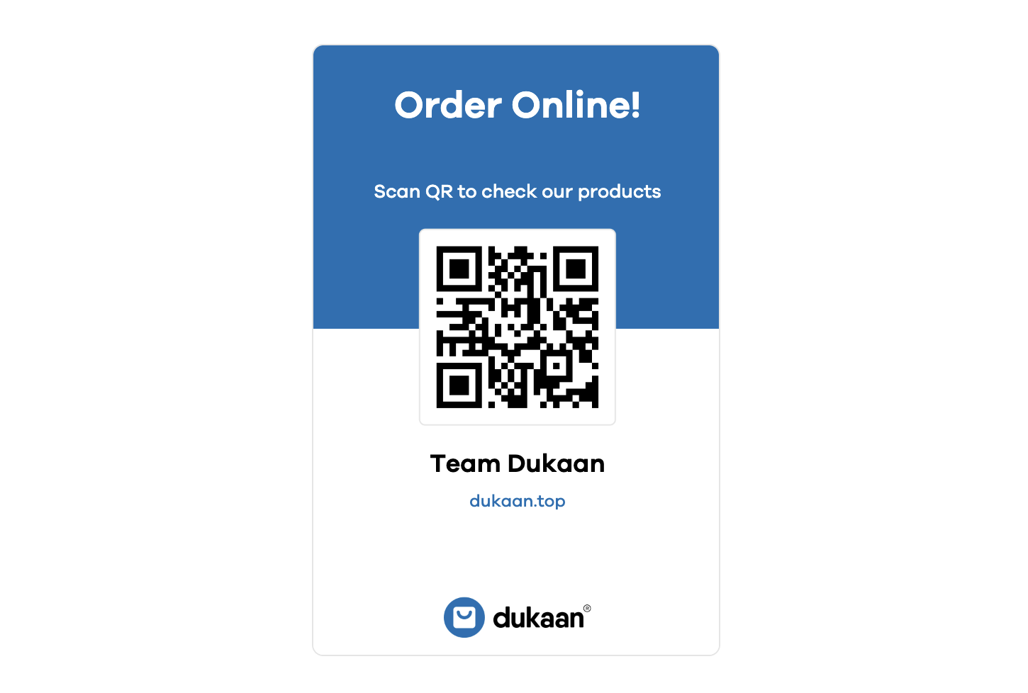 Sales from local events with QR code