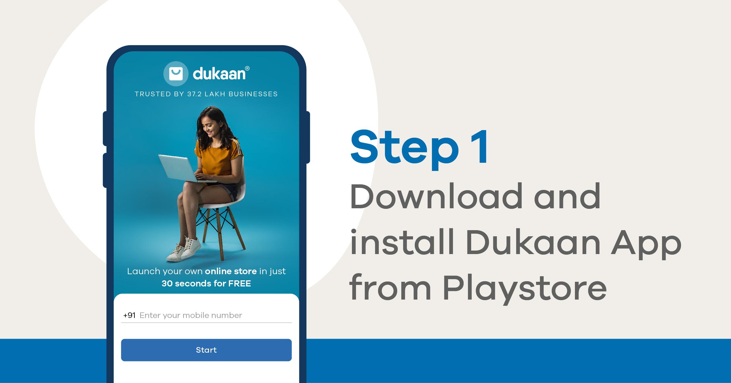 download Dukaan app
