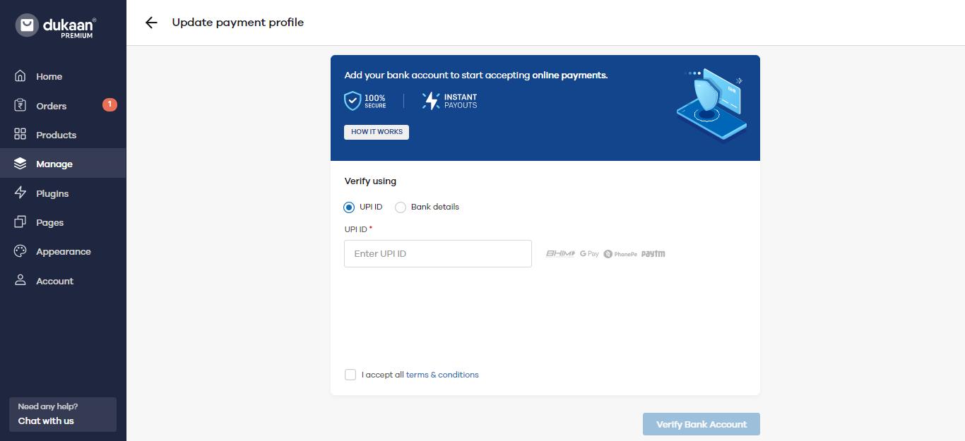 online payment Dukaan