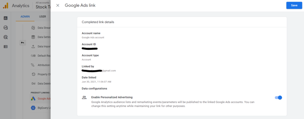 how to link Google Analytics and Google Ads