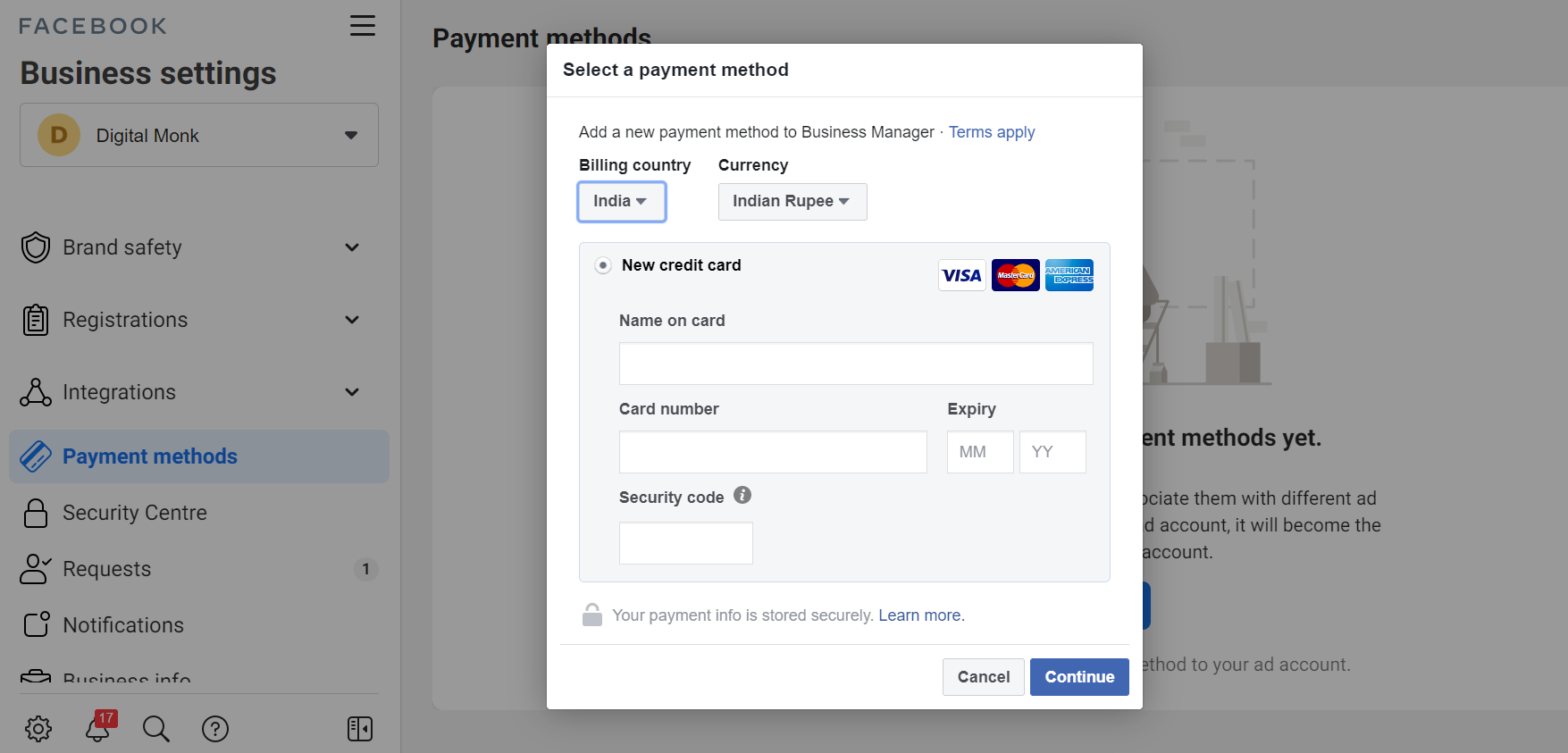 How To Get Your First Sale With Facebook Ads: A Beginner's Guide payment method